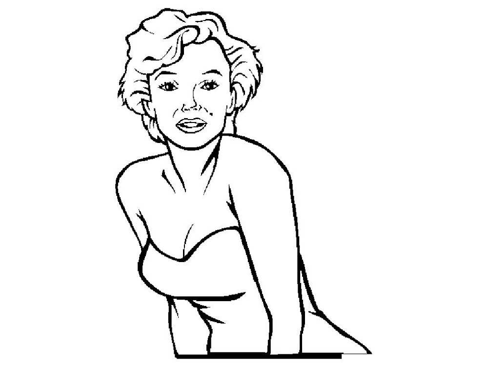 marilyn monroe coloring pages free