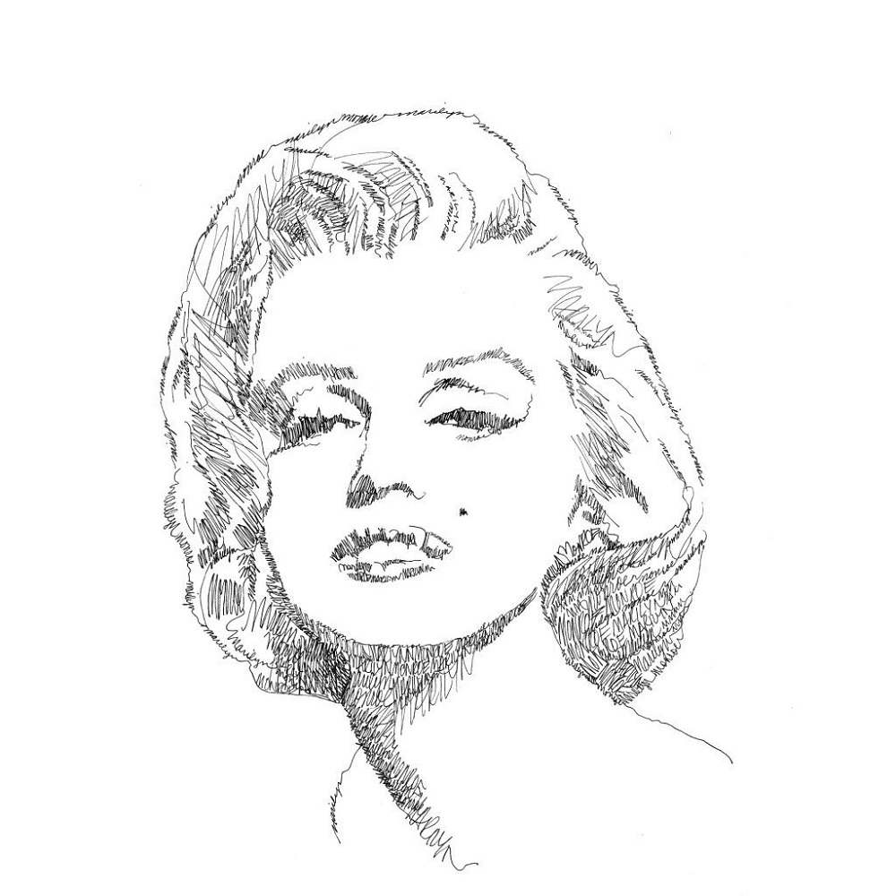 marilyn monroe coloring pages outline
