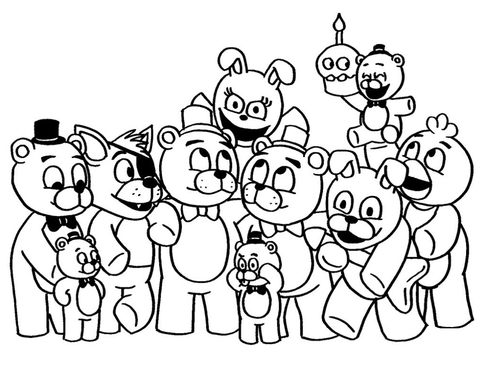 fnaf coloring sheets cute