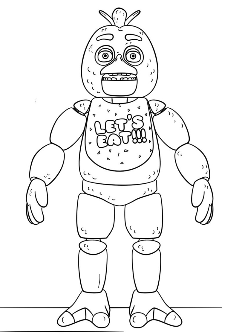 fnaf coloring sheets easy