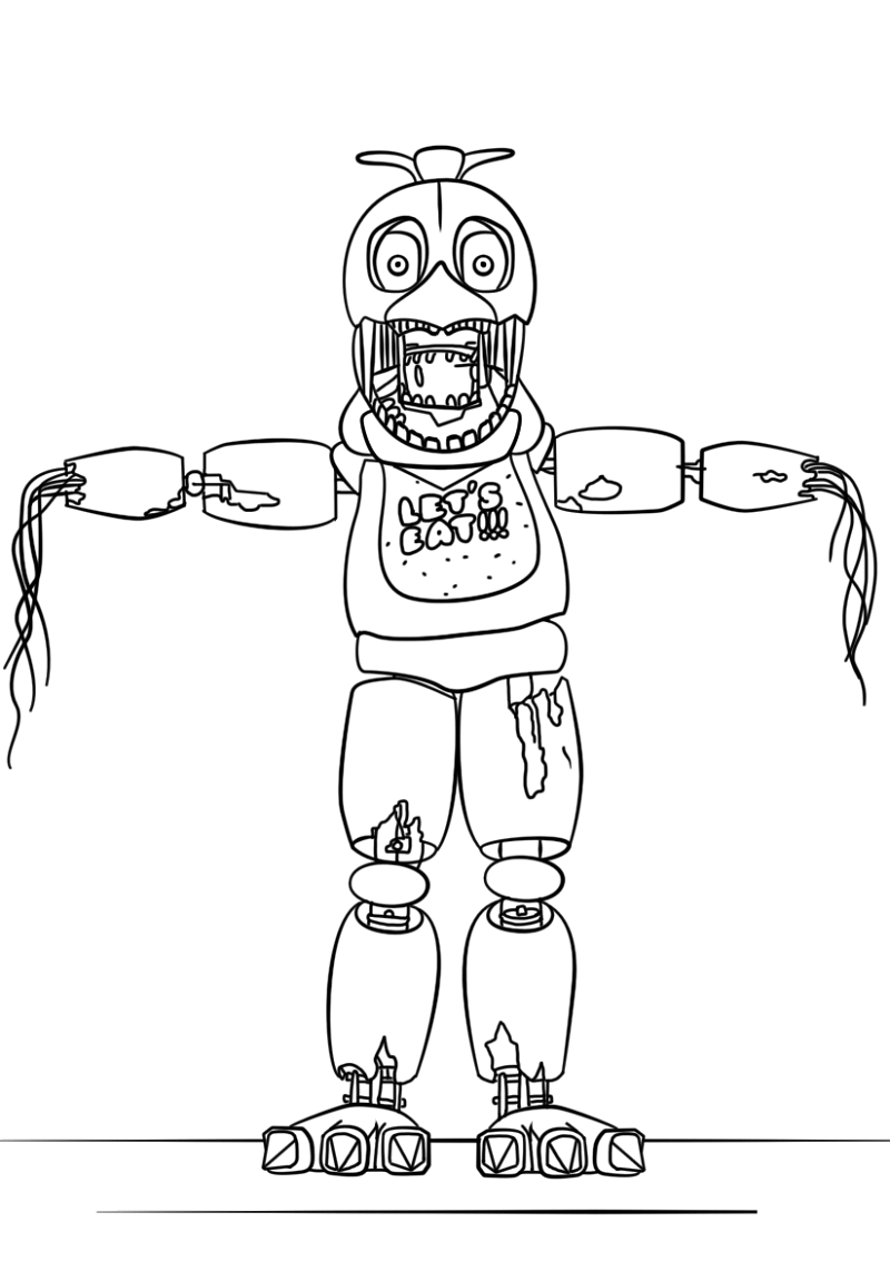 21+ Inspired Picture of Five Nights At Freddy's Coloring Pages ... | 1151x800