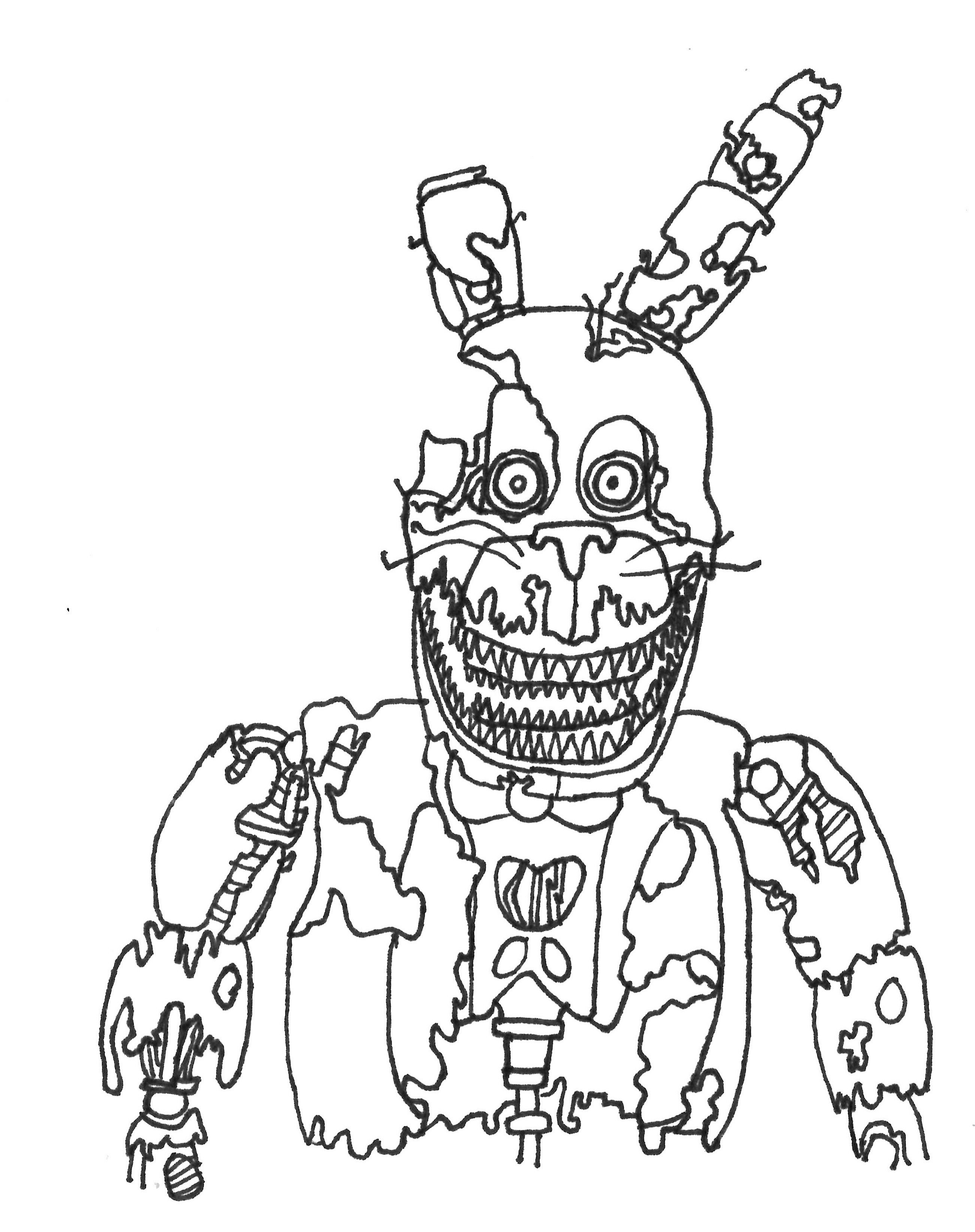fnaf coloring sheets scary