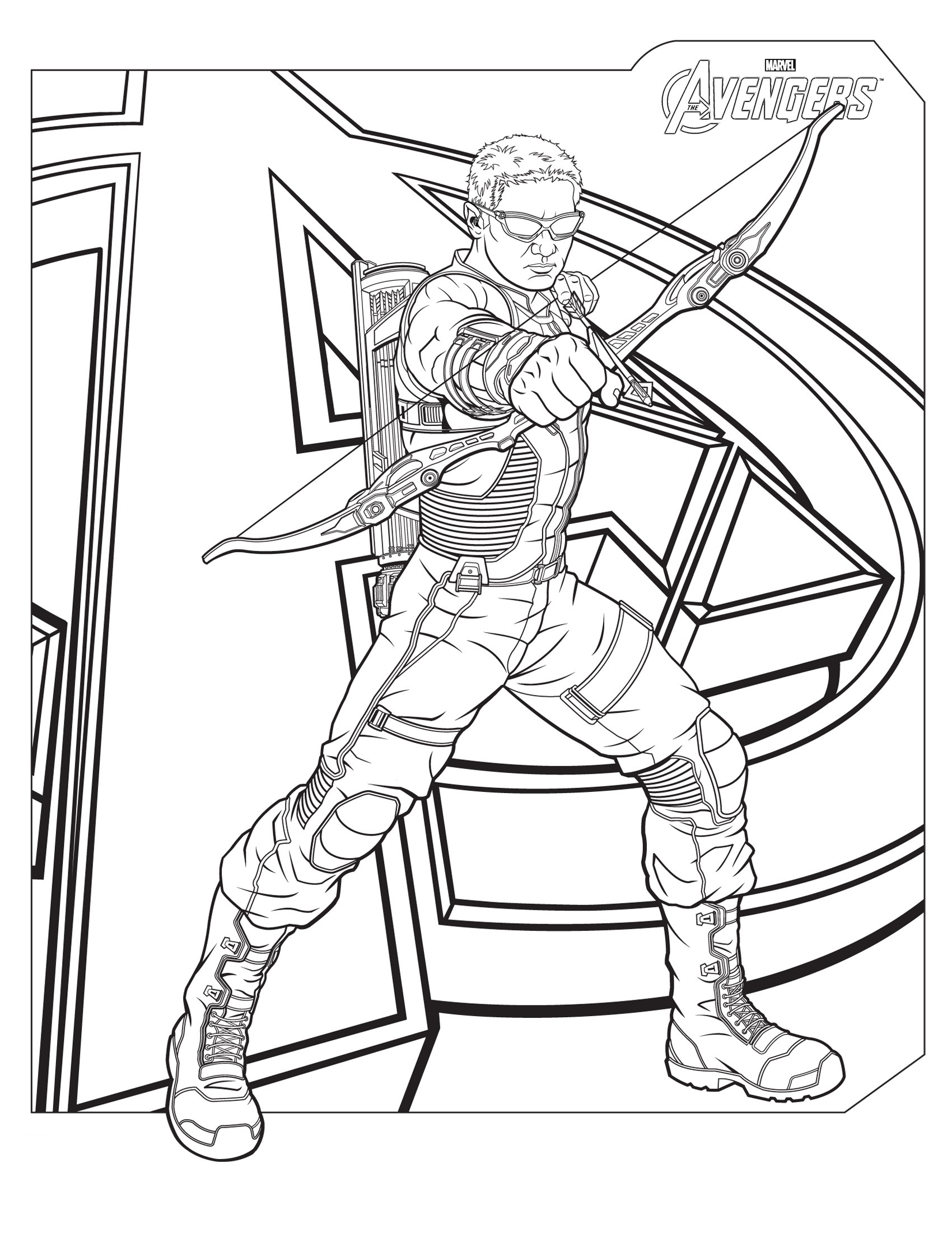 hawkeye coloring pages printable