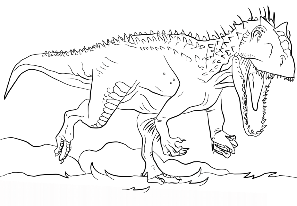 indominus rex coloring page free