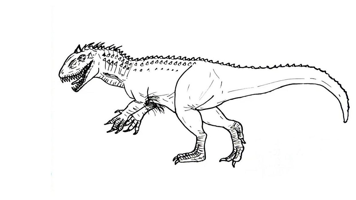 indominus rex coloring page kids