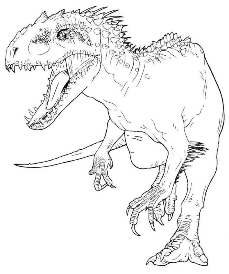 indominus rex coloring page printable