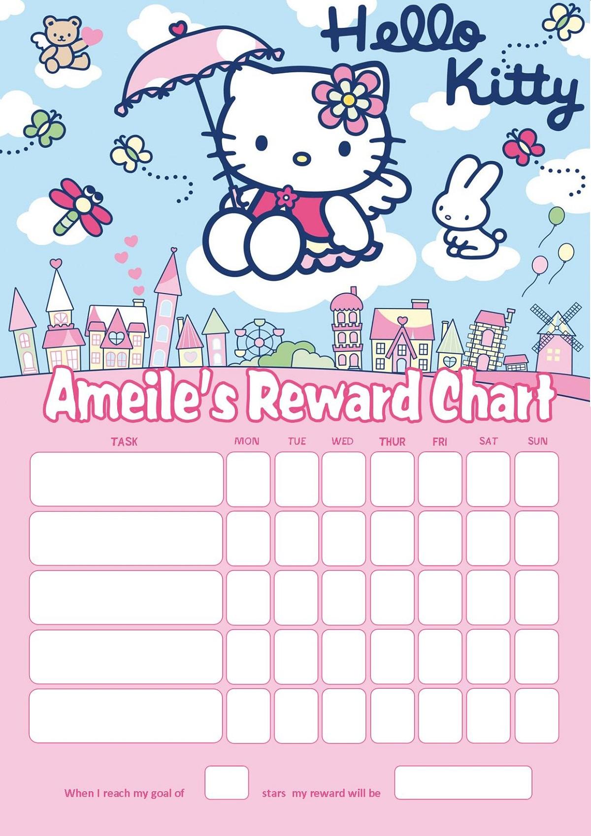 reward chart for 3 year old cartoon