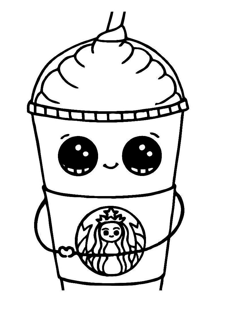 starbucks coloring page cup