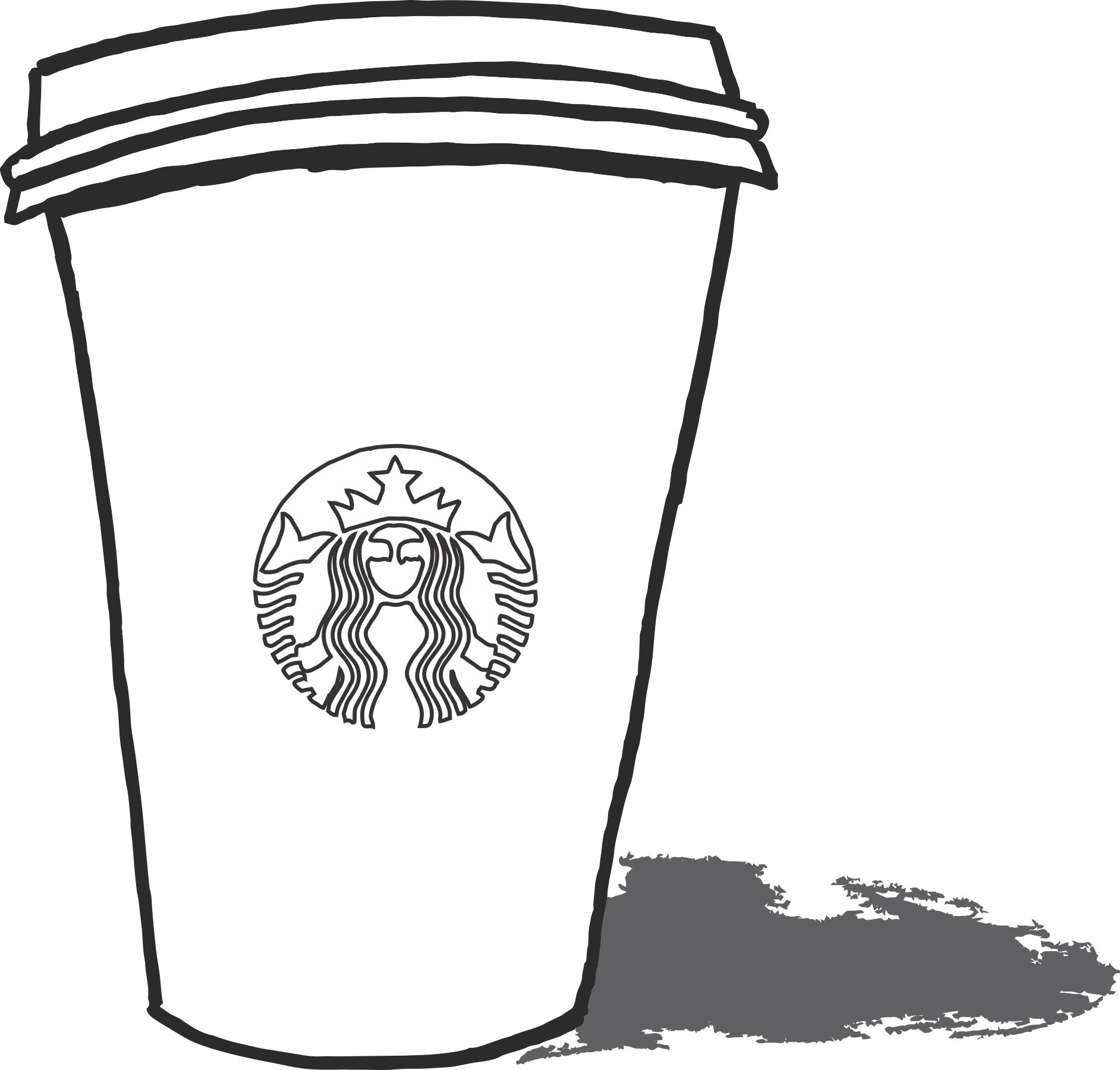 starbucks coloring page kids