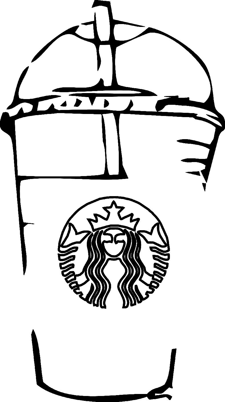 starbucks coloring page simple