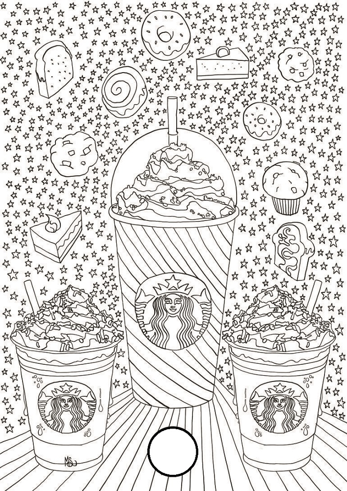 starbucks coloring page three
