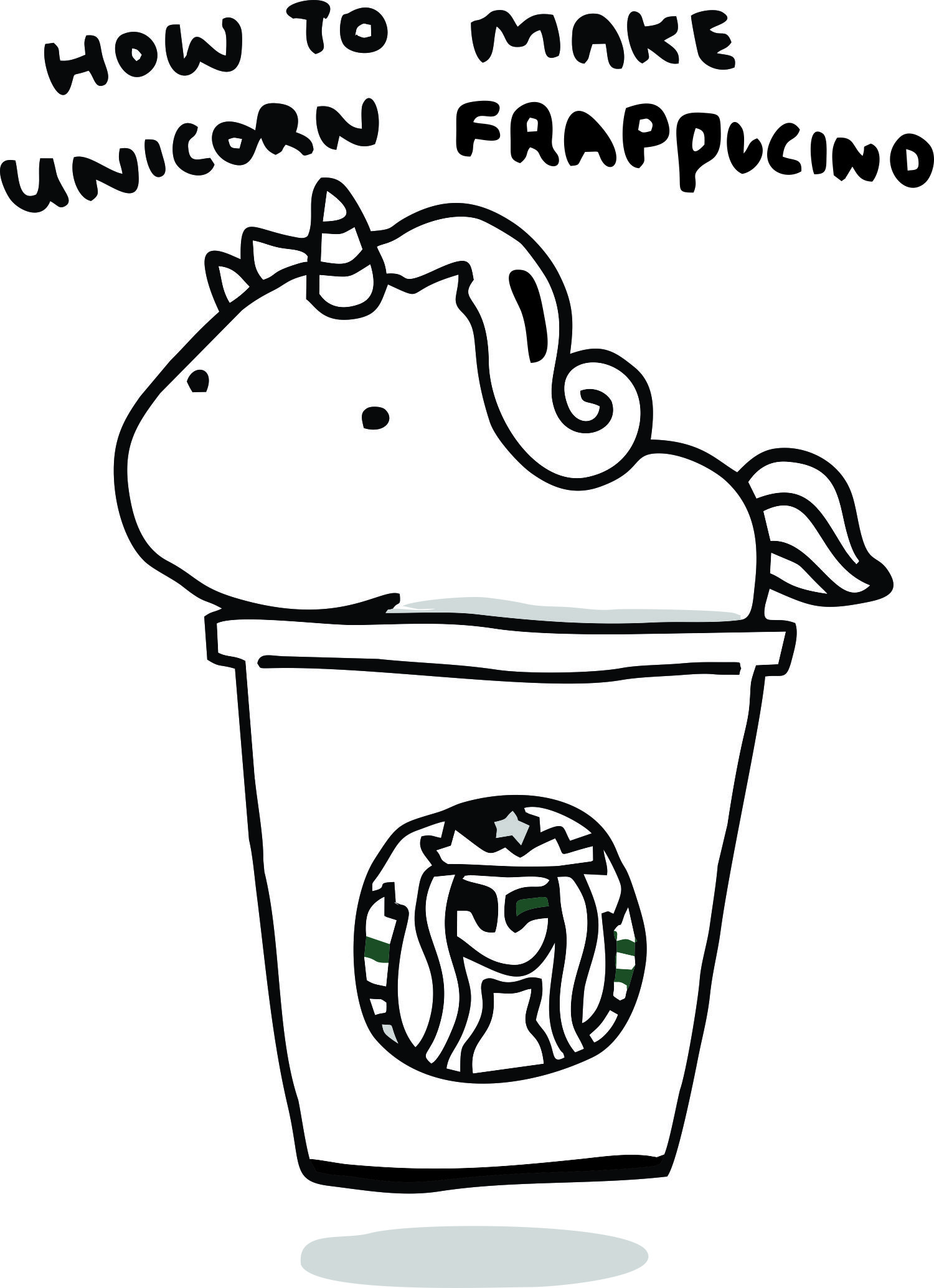 starbucks coloring page unicorn