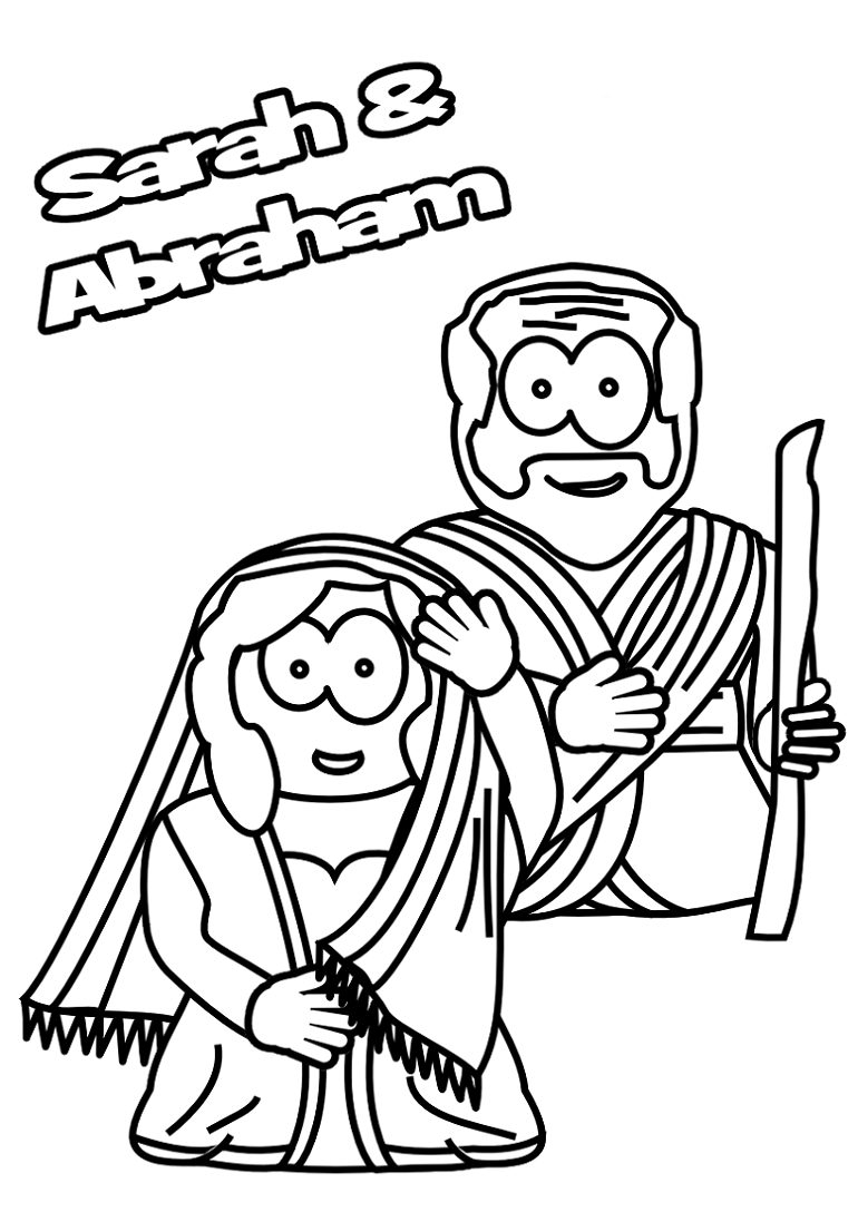 abraham and sarah coloring pages kids
