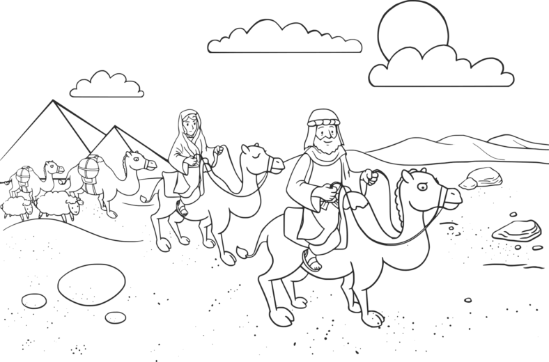 abraham and sarah coloring pages learning