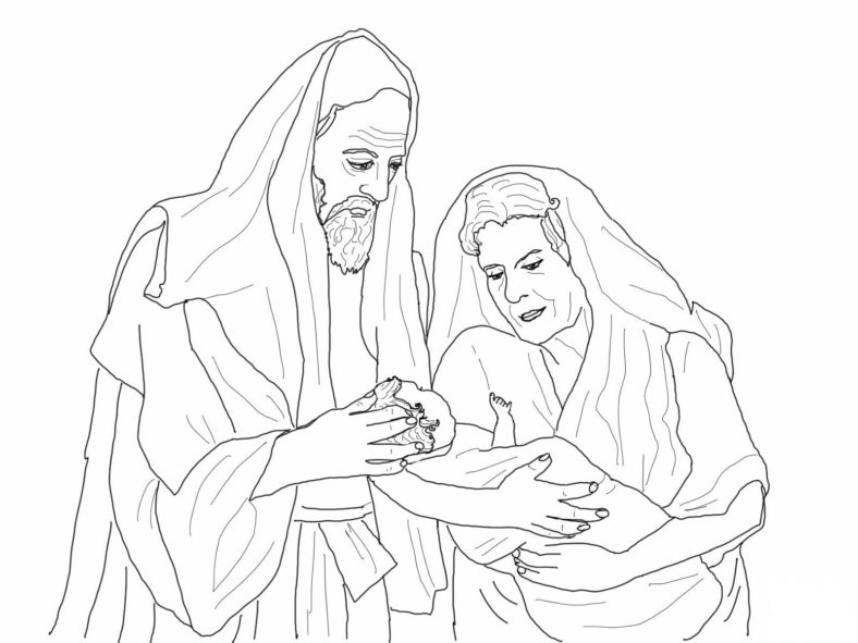 abraham and sarah coloring pages preschool