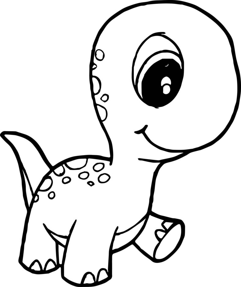 Baby Dinosaur Coloring Pages Cute