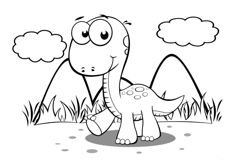 baby dinosaur coloring pages free