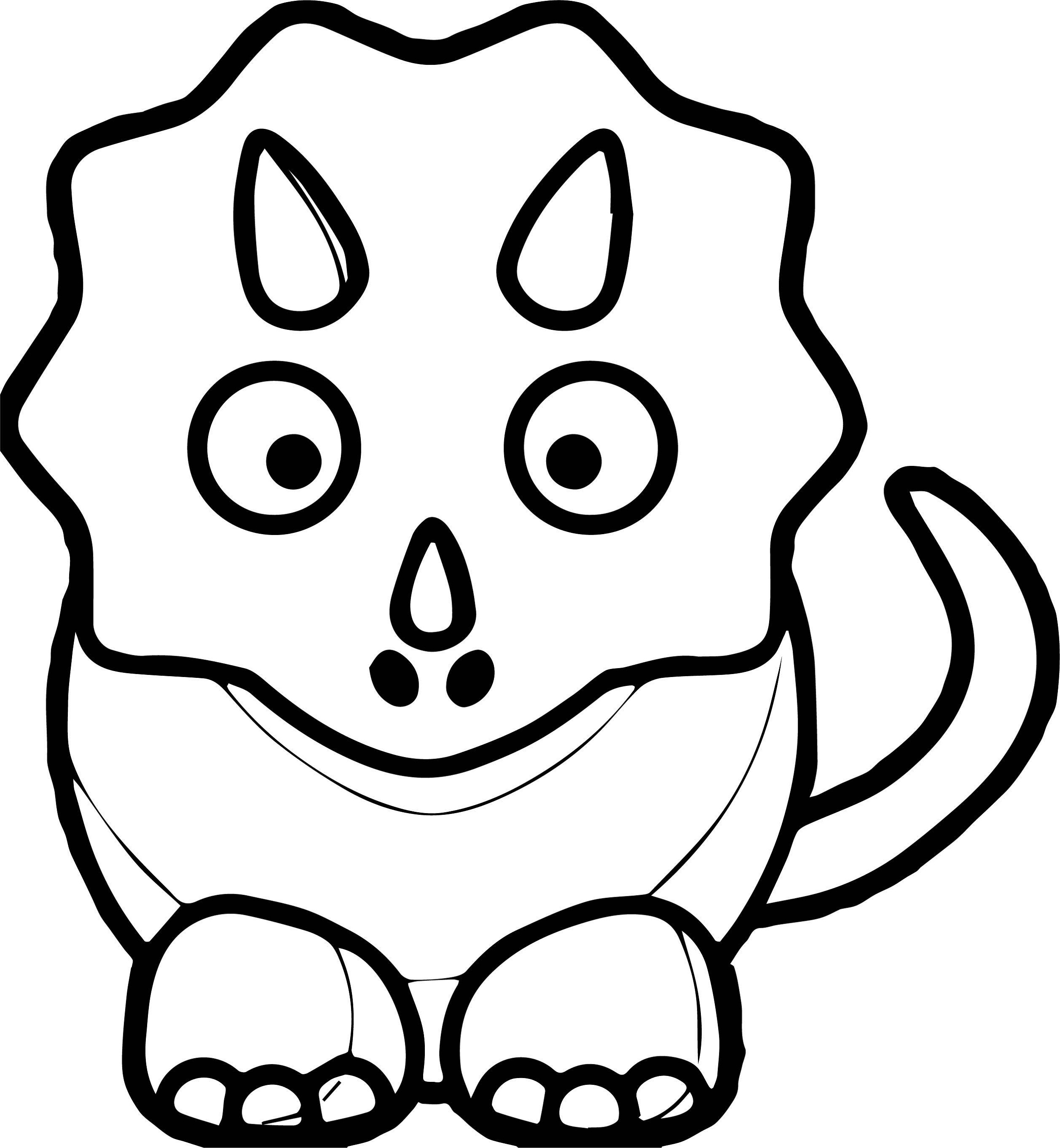 Baby Dinosaur Coloring Pages for Preschoolers | Activity ...