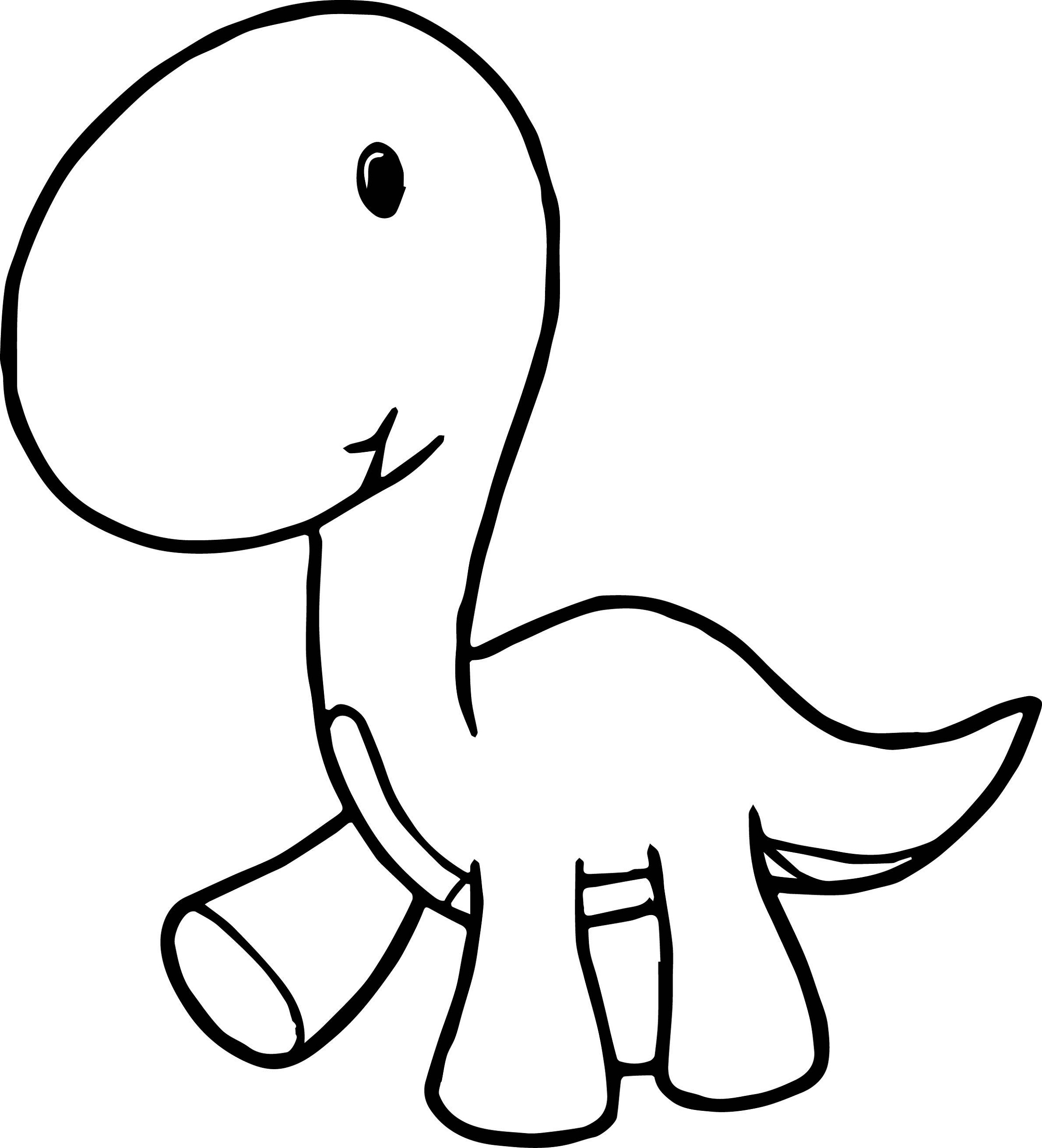 Baby Dinosaur Coloring Pages for Preschoolers | Activity Shelter