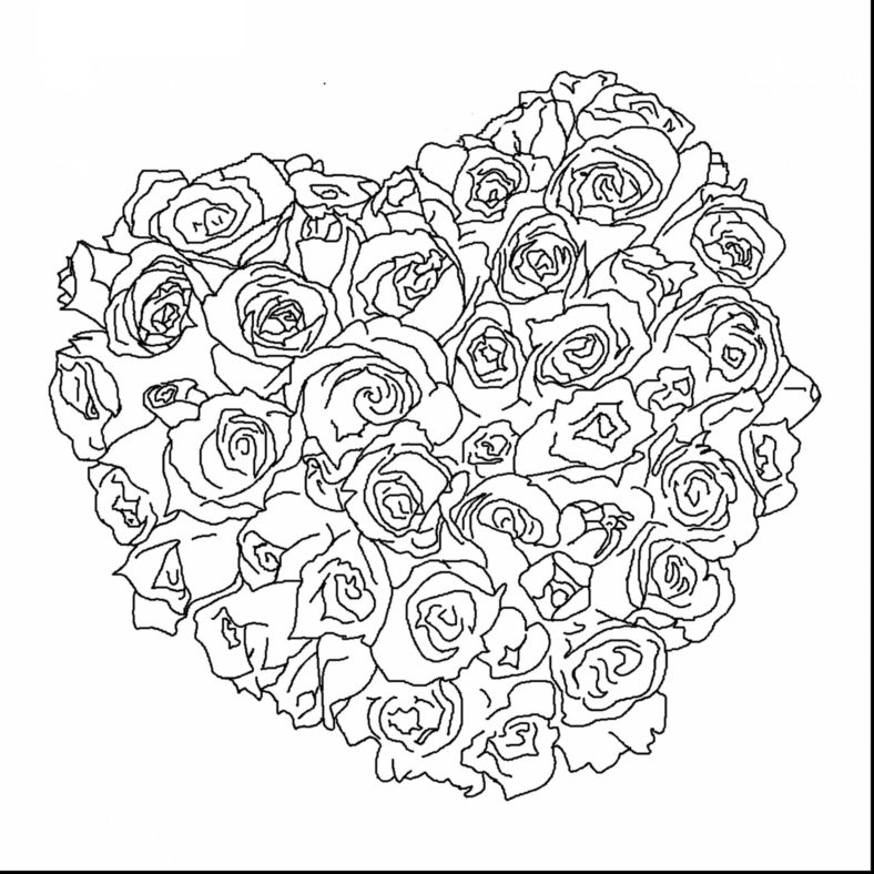 coloring pages of hearts and flowers fun