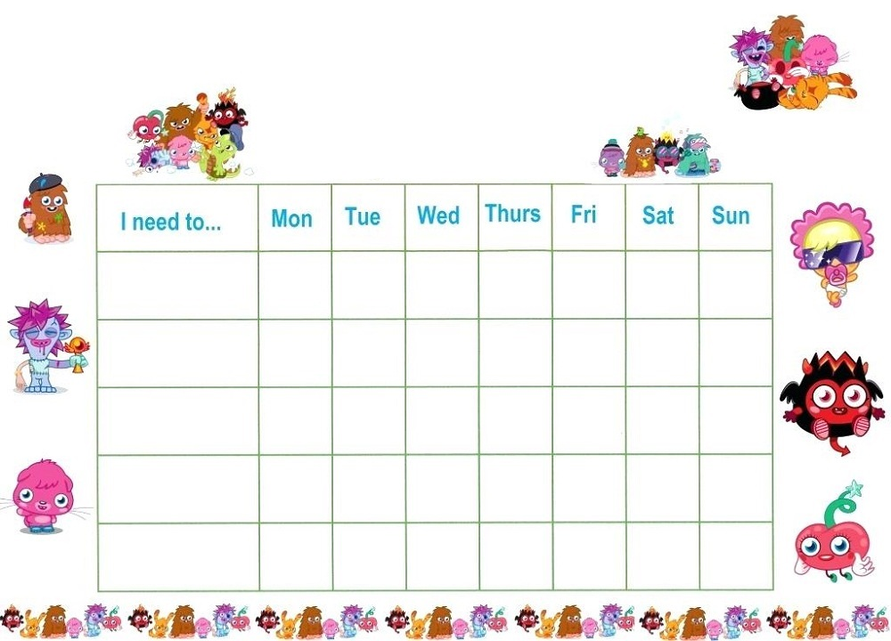 free printable reward charts for kids 2019