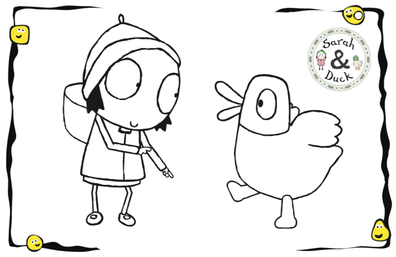 sarah and duck coloring pages friend