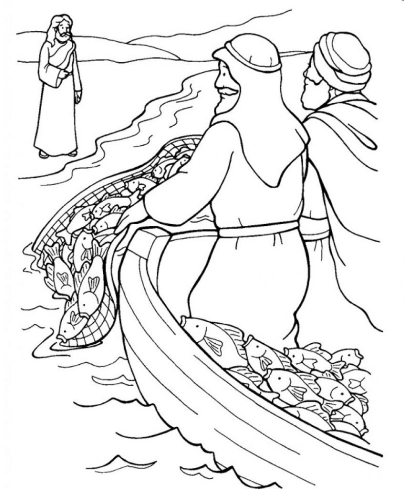 fishers of men coloring page catch