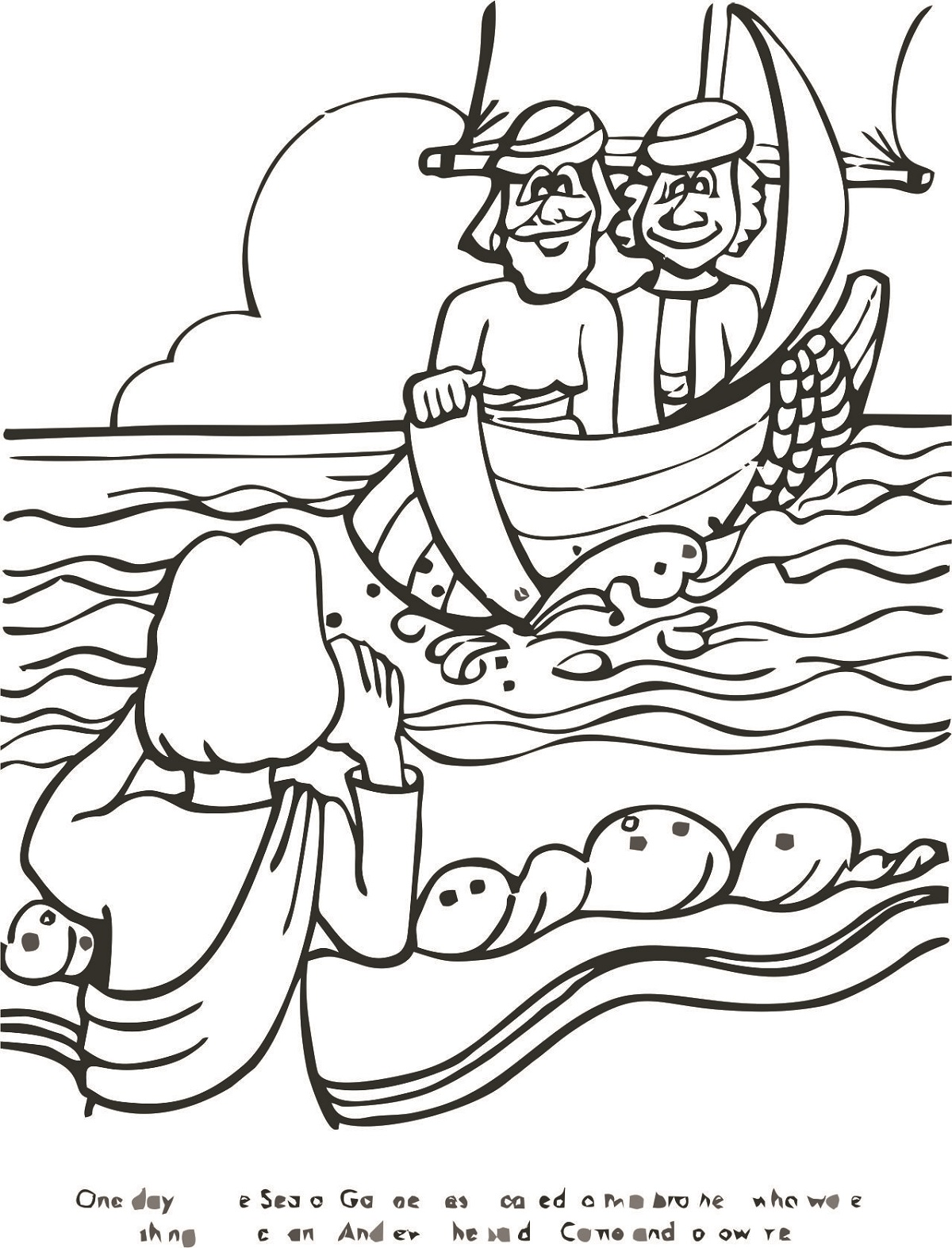 fishers of men coloring page printable