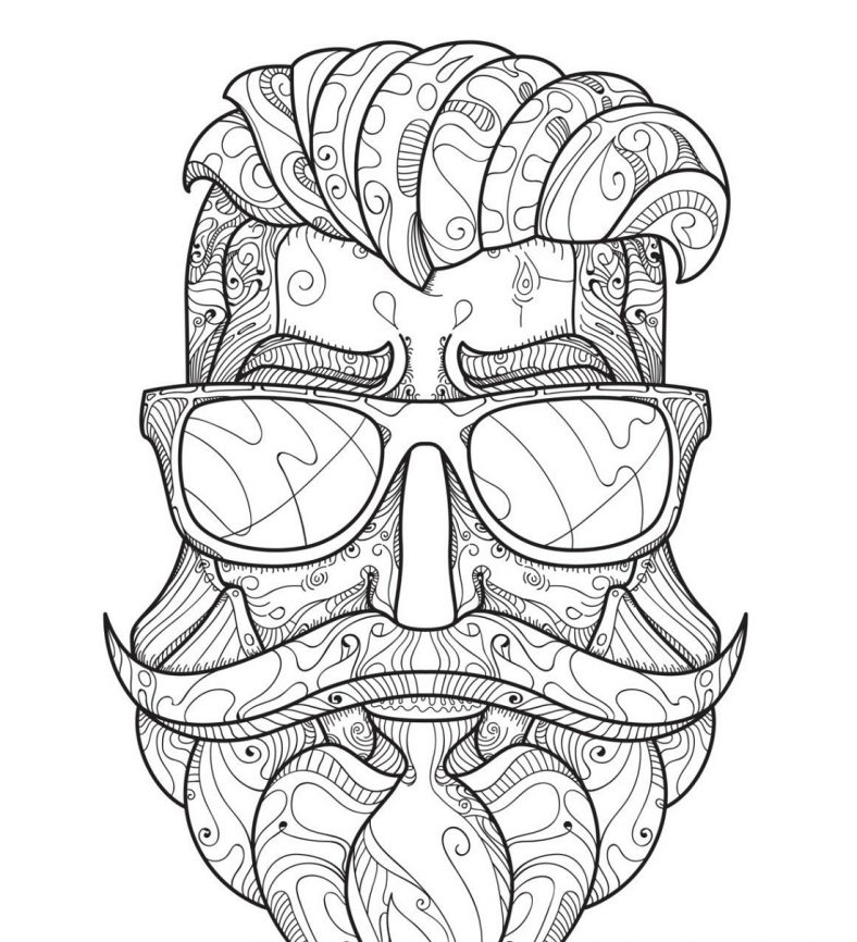 hipster coloring pages man