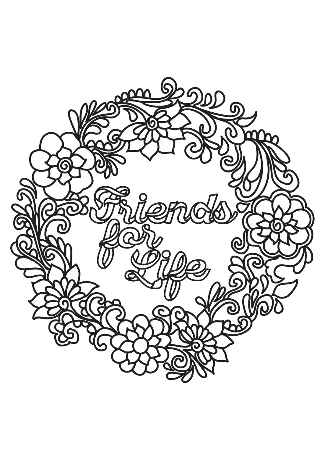 sayings coloring pages friend