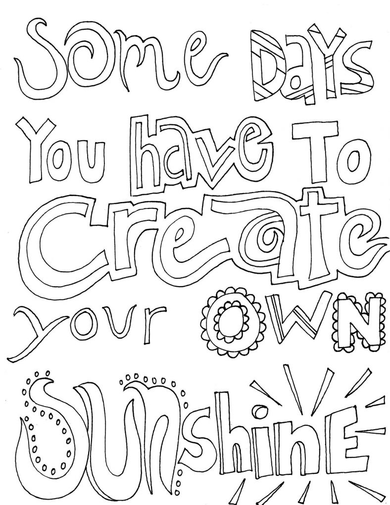 sayings coloring pages inspirational