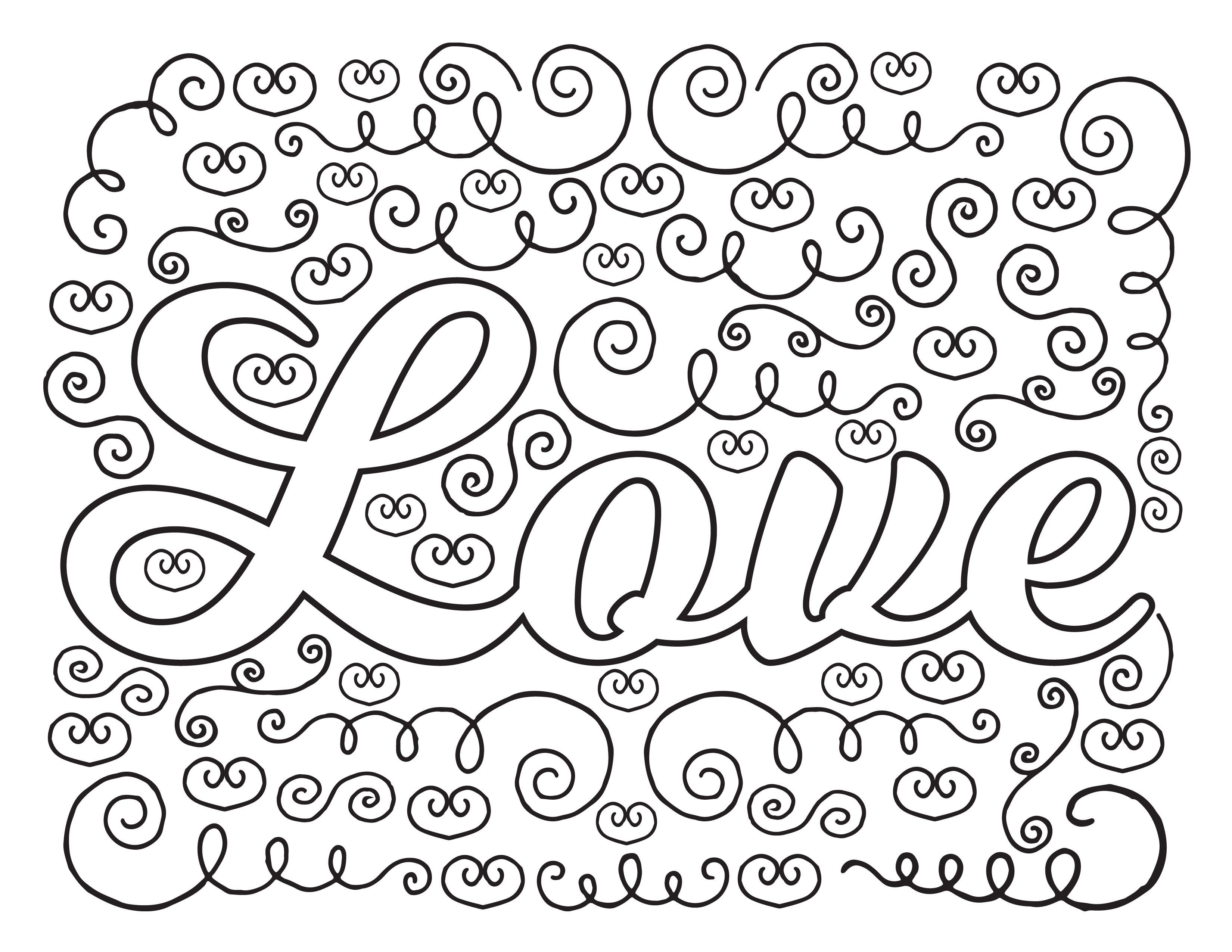 sayings coloring pages love