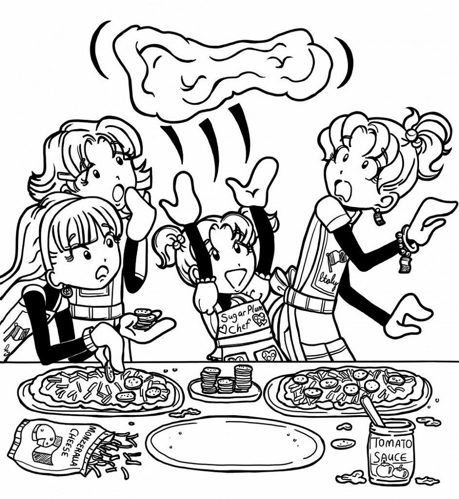 dork diaries coloring pages activity