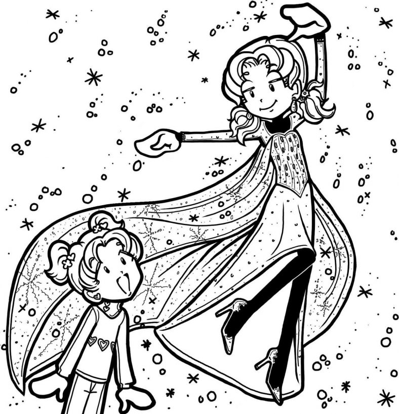 dork diaries coloring pages free