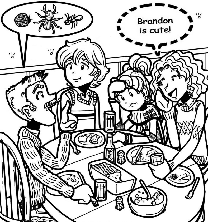 dork diaries coloring pages for kids