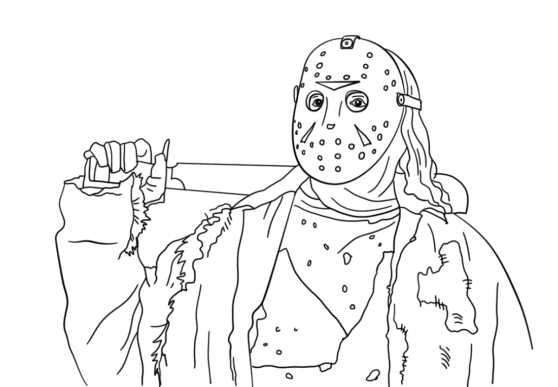 jason coloring pages free