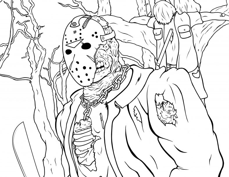 jason coloring pages printable