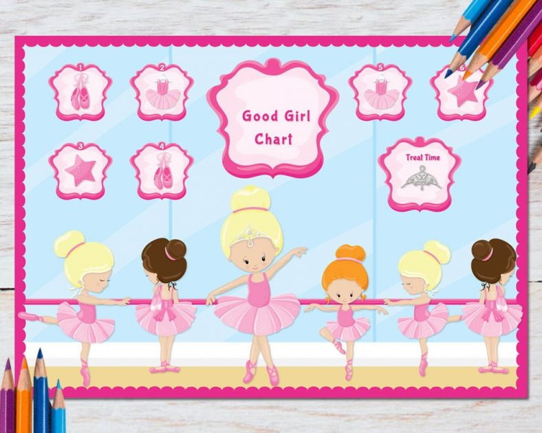 reward chart for 5 year old girl
