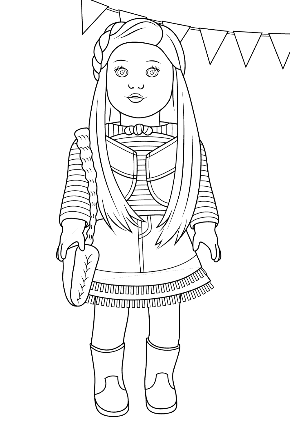 american girl doll coloring pages activity