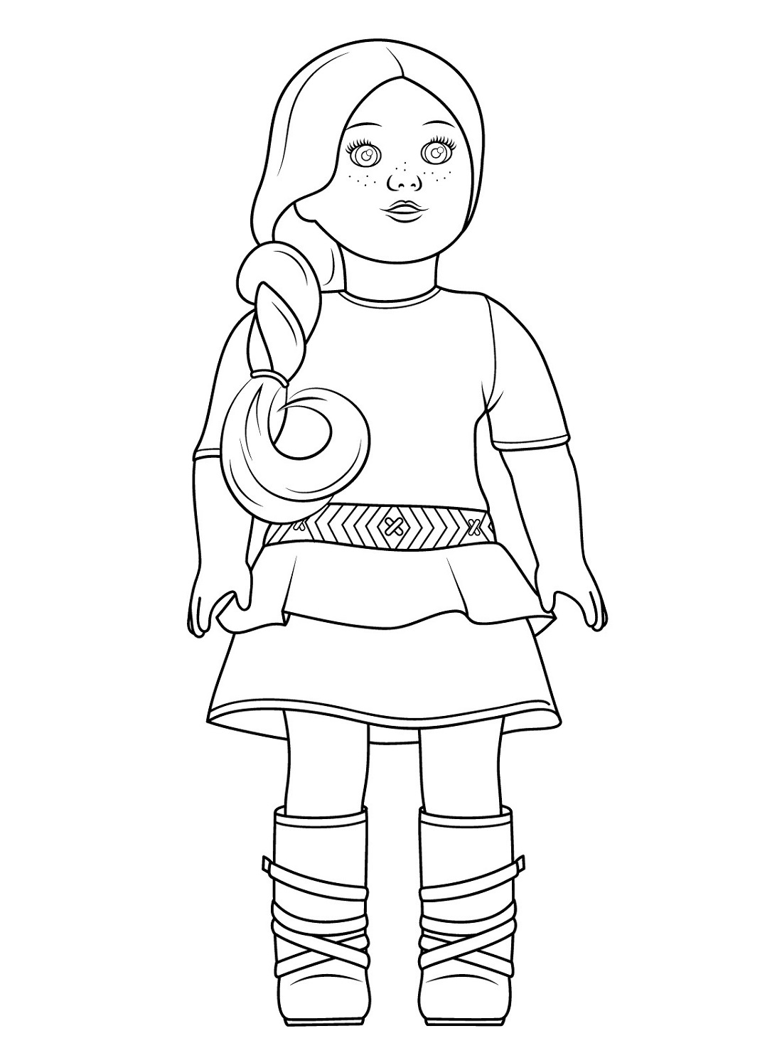 american girl doll coloring pages Isabelle