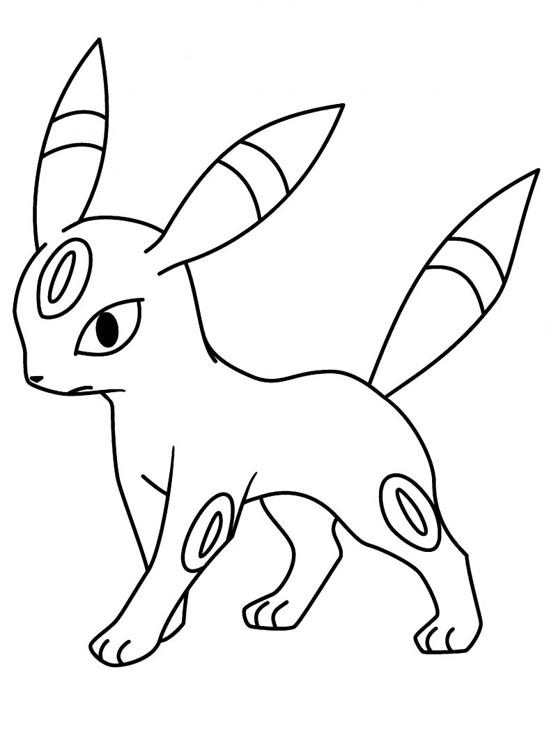 umbreon coloring pages easy
