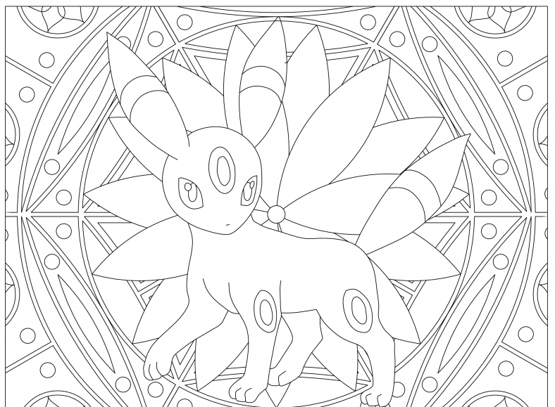 umbreon coloring pages free