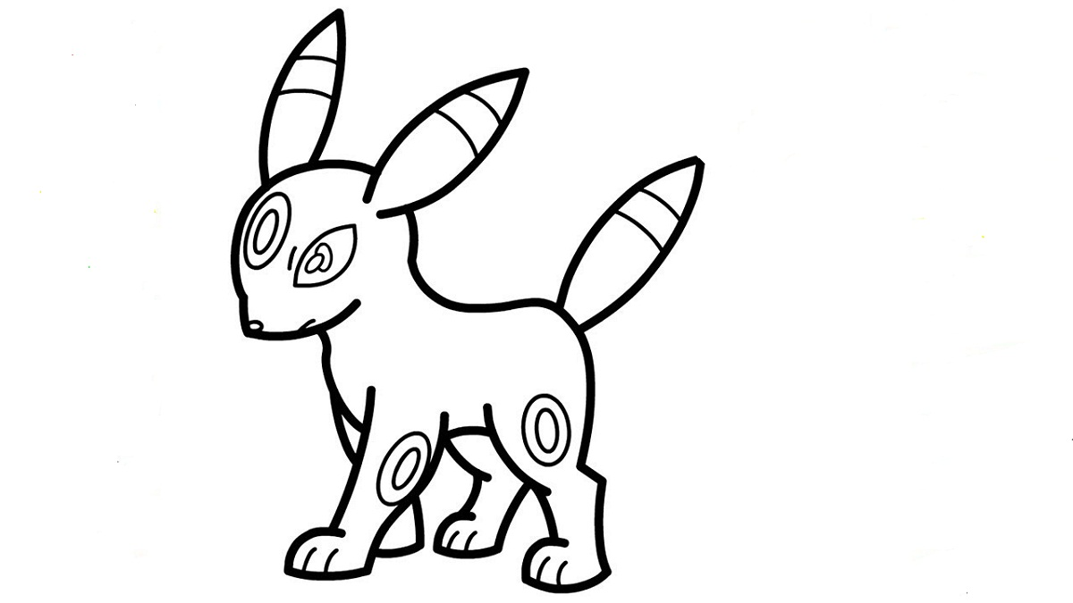 umbreon coloring pages simple