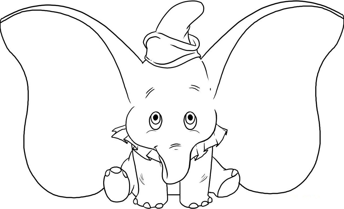 Baby Elephant Coloring Pages for Kindergarten | Activity Shelter