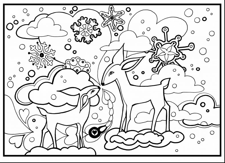 winter wonderland coloring pages cute