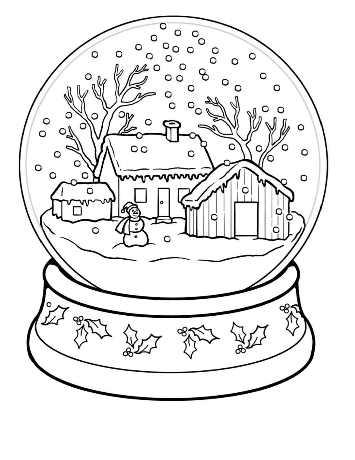 winter wonderland coloring pages easy