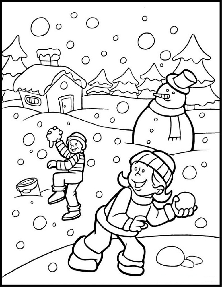 winter wonderland coloring pages kids