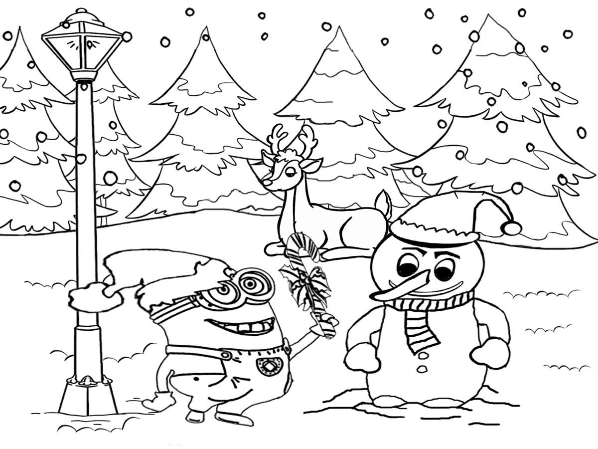 winter wonderland coloring pages preschool