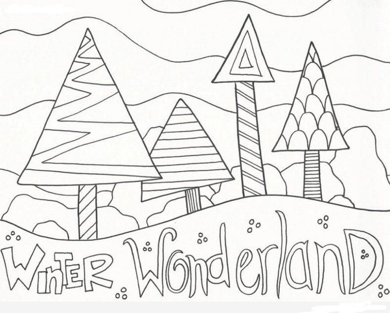 winter wonderland coloring pages printable
