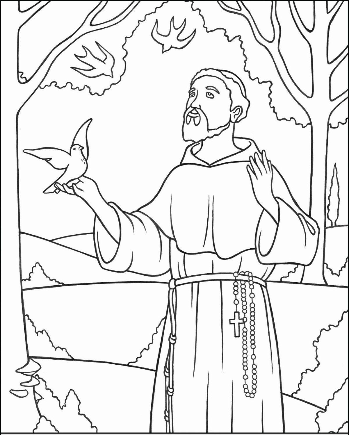 All Saints' Day Coloring Page